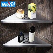 все цены на WEYUU Bathroom Shelves Stainless Steel Double Layer Storage Holder Toilet Corner Storage Rack Shampoo Soap Storage Shelf