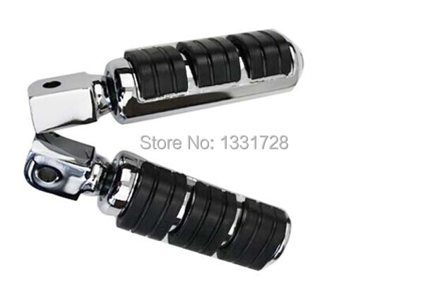 Chrome Wing Foot Pegs Rests For 2003-2006 Honda VTX 1300 C,R & S (rear)