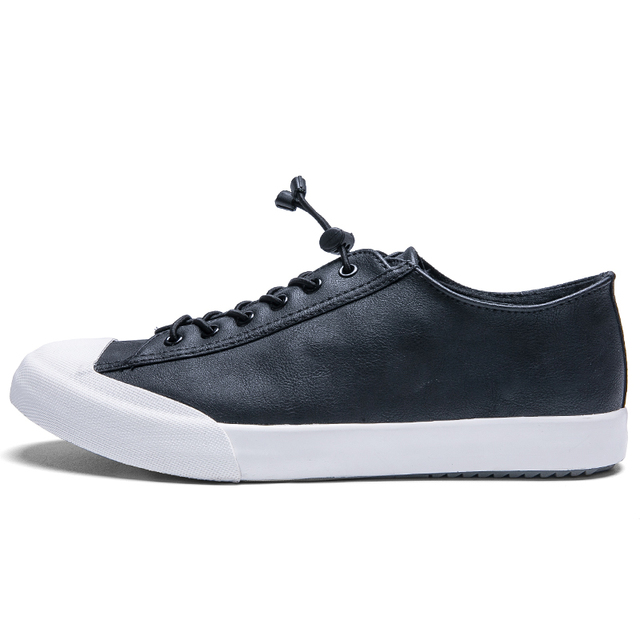 6aa4c3853a0d US $35.69  Whoholl Spring New Casual Shoes Mens Leather Flats Lace Up Shoes  Simple Stylish Male Shoes Large Sizes PU Leather Shoes for Men-in Men's ...