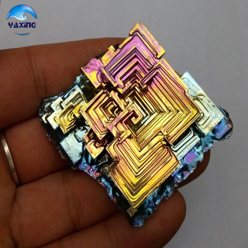 Bismuth Crystals 200g Bismuth Metal crystal bismuth crystals bismuth bi metal crystal rainbow bright metal mineral specimen original nature art artwork decorative article