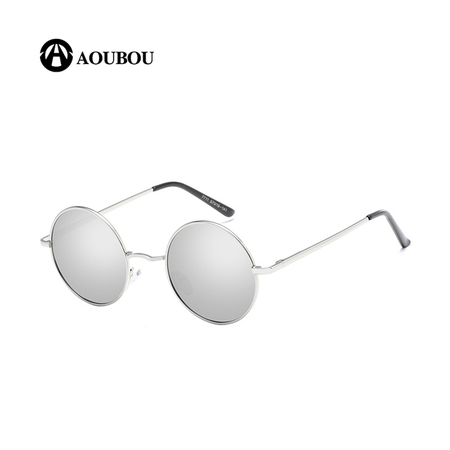 ba642d5a00a Round Polarized Prince Edward Retro Men and Women Sunglasses Color Film Colorful  Metal Frame Fat Lenses Oculos Vintage AB859