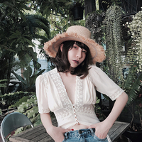 Линетт's CHINOISERIE летние женские французские сексуальные кружевные белые платья