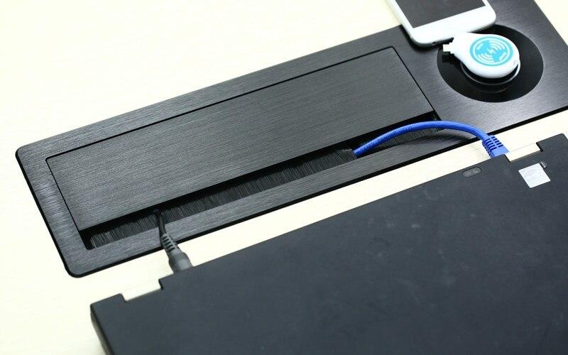 Custom wireless charge brush lip up hidden HDMI socket - 2