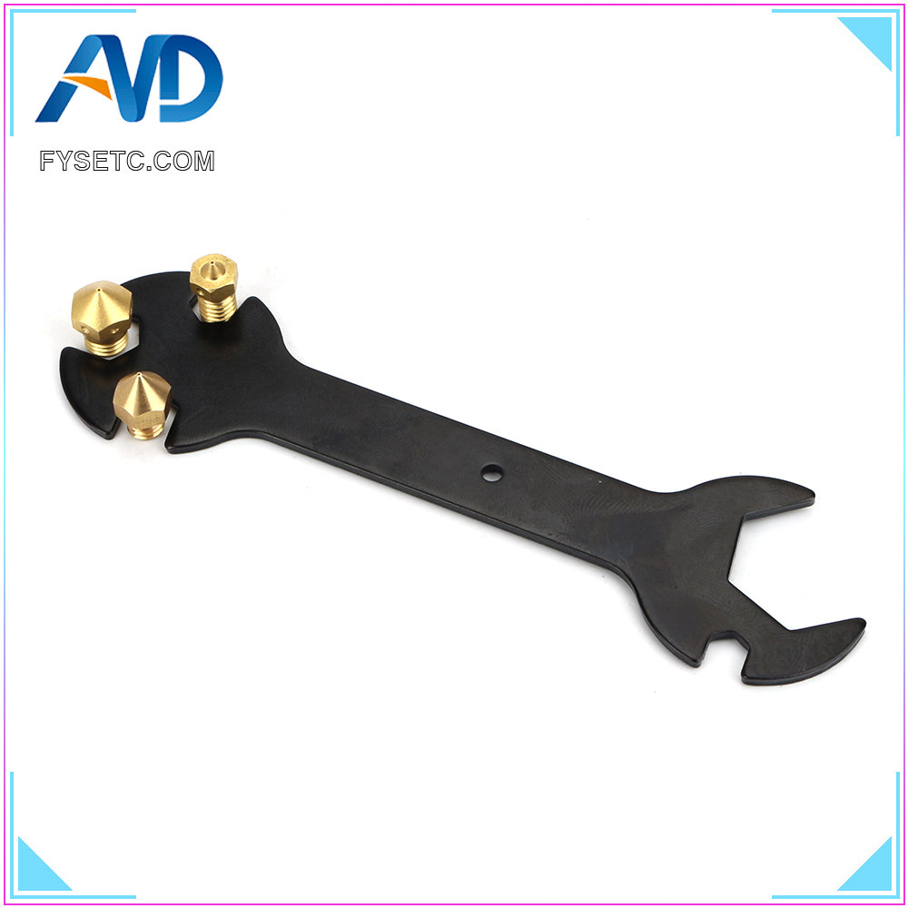 3D Printer Parts Tool 5 IN 1 Wrench Stay 5.7mm to 20.2mm Steel Spanner Multifunction Wrench Flat Spanner For E3D MK8 MK10 Nozzle3D Printer Parts Tool 5 IN 1 Wrench Stay 5.7mm to 20.2mm Steel Spanner Multifunction Wrench Flat Spanner For E3D MK8 MK10 Nozzle
