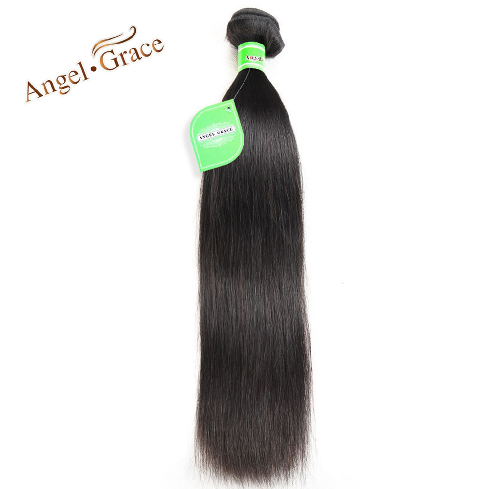 Angel Grace Hair Peruvian Straight Hair 100g/piece Natural Color Human Hair Bundles 10-28 inch Available Remy Hair Free Shipping