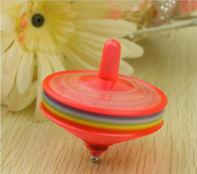 Luminous flash traditional spinning top reminisced toys stall 2 goods