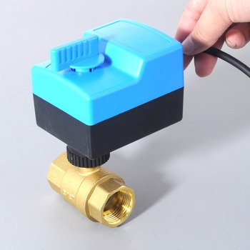DN25(G1.0) AC220V electric actuator brass ball valve/motorized/motor-driven Valve,switch type two-way valves