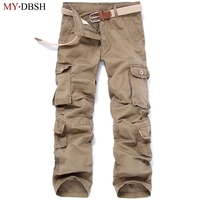 Brand New Men Cargo Pants Casual Pants Multi Pocket Military High Quality Mens Outdoor Long Trousers