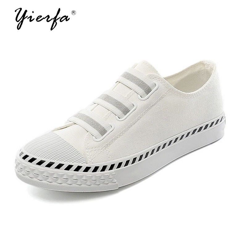 2017 spring and summer canvas shoes female white shoes Korean version of the students casual board shoes стоимость