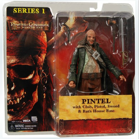 NECA Pirates Of The Caribbean Pirates 3 Pirates Of The World Leader In The End 7-Inch Model Mobile Dolls ...