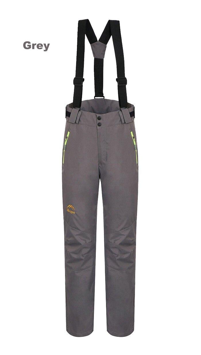 Sj-maurie pantalons de ski de neige sport femme pantalon de Snowboard bretelles détachables vêtements en molleton pantalon de Snowboard solide - 3