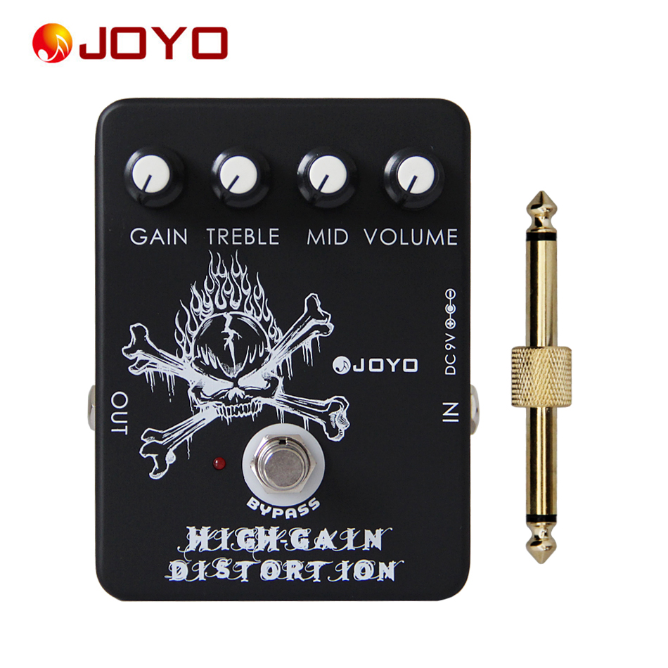 JOYO JF 04 True Bypass High Gain Distortion Effects Pedal for Guitar with General Pedal Connector