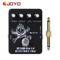 JOYO JF-04 True Bypass High Gain Distortion Effects เหยียบสำหรับกีตาร์ทั่วไป Pedal Connector 1 pc