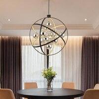 โพสต์   โมเดิร์น LED meridian แหวน Globe เหล็กจี้ Creative glass ball แขวนไฟร้านอาหารห้องรับประทานอาหารจี้โคมไฟ|โคมไฟแบบห้อย|   -