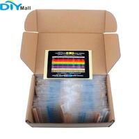 1460 pçs/set 1/4W Metal Film Resistor Variedade Kit 1% Valor de Precisão 73 Rotulados com Caixa