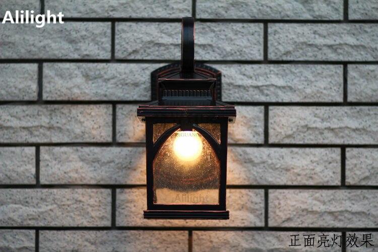 Applique da parete vintage illuminazione esterna giardino luci