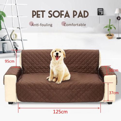 Couch Sofa Cover Verwijderbare Gewatteerde Couch Hoes Pet Kids Protector Met Riem