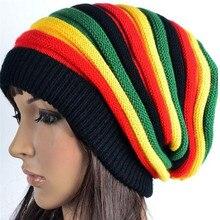 Jamaica Reggae Gorro estilo Rasta Cappello Hip Pop de invierno de los hombres  sombreros de mujer rojo amarillo verde negro de mo. 2ca55531962