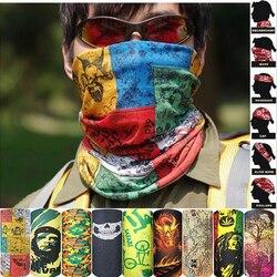Escalada ao ar livre Caminhadas Pesca Ciclismo Esquiar À Prova de Vento Proteção UV Camuflagem Bandana Máscara Facial Neck Cachecóis Wraps Headwear