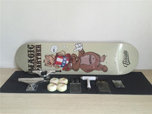 Complete Skateboards Set Private Deck Blank Trucks Element Wheels ABEC-3 Bearings Plus Hardware Set Riser Pad & Installing Tool