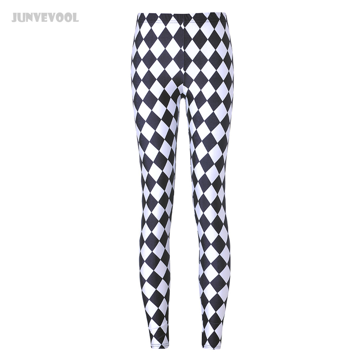 Fitness   Leggings   White Black Grid Legins Women Gothic Geometry Leggins Punk Rock Mujer Pants Pencil Sportswear Harajuku   Leggings