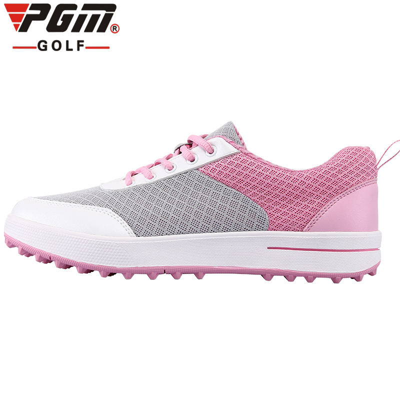 Brand PGM Womens Ladies Girls Women Golf Sports Air Mesh Shoes Light Weight & Steady & Waterproof & Breathable & Anti-Sideslip brand pgm adult mens golf sports shoes anti sideslip technology and waterproof and breathable and light weight golf sneakers