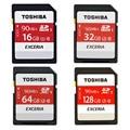 Toshiba SD Memory Card UHS U3 128Gb 90MB/s 600x 16GB 32GB SDHC Card SD 64GB SDXC Card Flash For Digital SLR Camera Camcorder DV