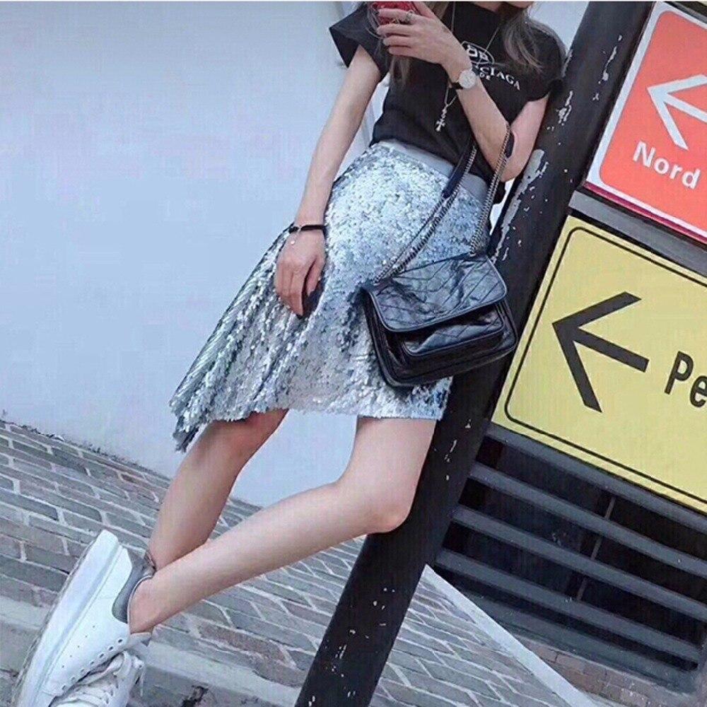 2019 europa und Amerika Mode Marke Frauen Tasche Echtes Kuh Leder Schulter Tasche Kette Umhängetasche Weiblichen Crossbody tasche 240-in Schultertaschen aus Gepäck & Taschen bei  Gruppe 2