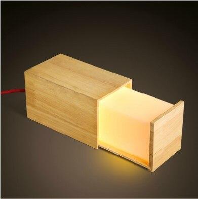 Lampade da tavolo moderno legno legno cassetto locker a forma di lampade da tavolo per la camera - Lampade da tavolo in legno ...