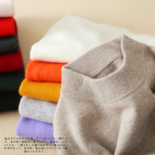 Cashmere Sweater Women Fashion Autumn Winter Female Wool Sweater Comfortable Warm Slim High-Quality Cashmere Blend Pullovers(China)