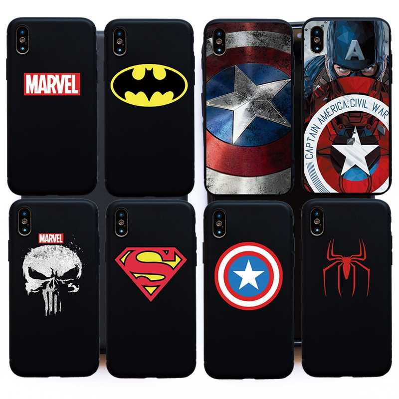 Cartoon Marvel Captain Super Heros soft silicon case For iphone 11 pro Max 6 6s 7 8 Plus X XS Max XR 5 5s SE cover case