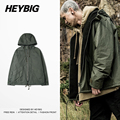 Presale Feb 25th waterproof Hip hop Jacket 2017 Spring HEYBIG trench Hooded windbreaker Asian size!!