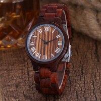 Retro Unique Full Wooden Men Watch Cool Style Bamboo Bracelet Quartz Wrist Watch For Male Clock Sport Roman Dial Reloj de madera