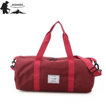 HIGHSEE Travel Sports Bag Men Sac De Sport Femmes Gym Fitness Duffle Bag Fitness Sports Lady Shoulder Bag Weekend Girls Shopping
