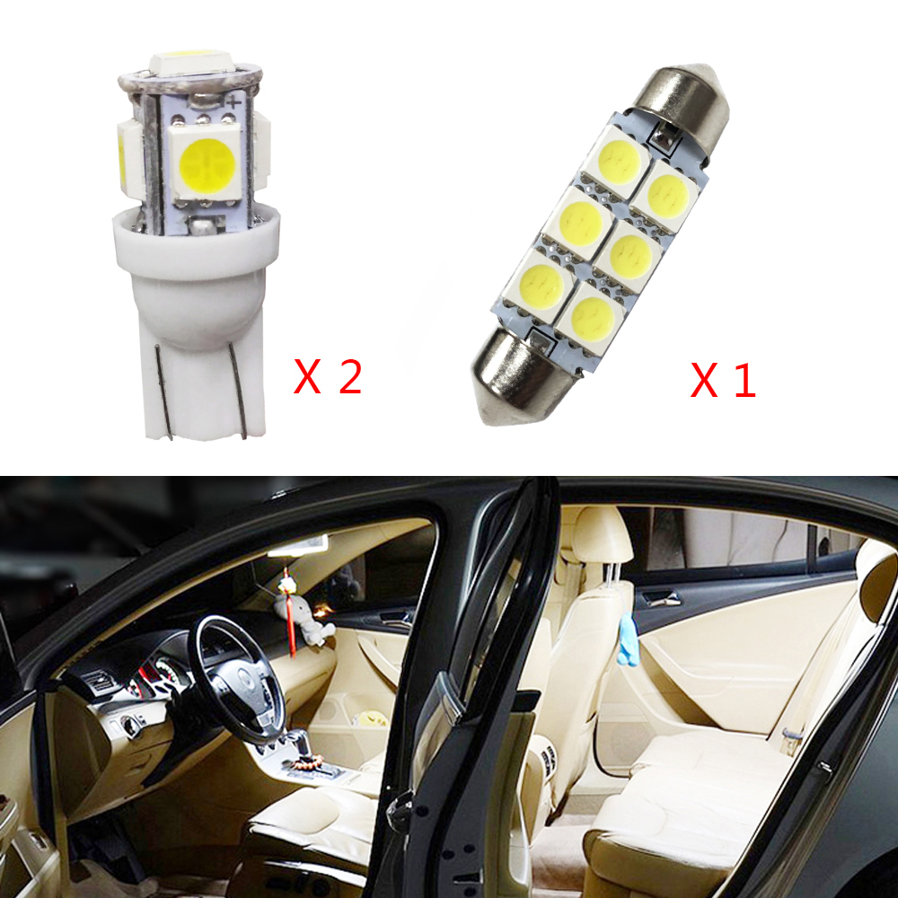 3 pcs branco lampada led lampadas de carro kit pacote interior para toyota yaris l mapa