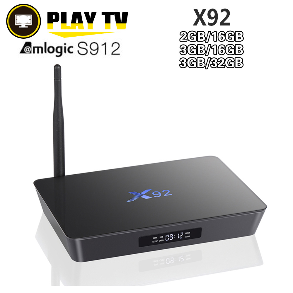 [Véritable] X92 3 gb/32 gb 3 gb/16 gb 2 gb/16 gb Android 7.1 Smart TV Box Amlogic S912 Octa Core CPU Entièrement Chargé 5g Wifi Set Top Box