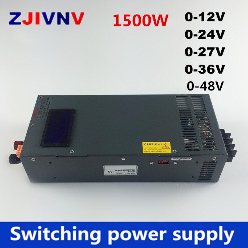 New 1500w switching power supply 0 12V 24V 36V 27V 48V voltage and current adjustable ac