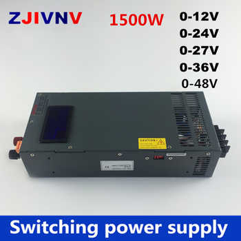 New 1500w switching power supply 0-12V 24V 36V 27V 48V, voltage and current adjustable ac-dc 15v 100A , 24V 62.5A - DISCOUNT ITEM  5 OFF Home Improvement