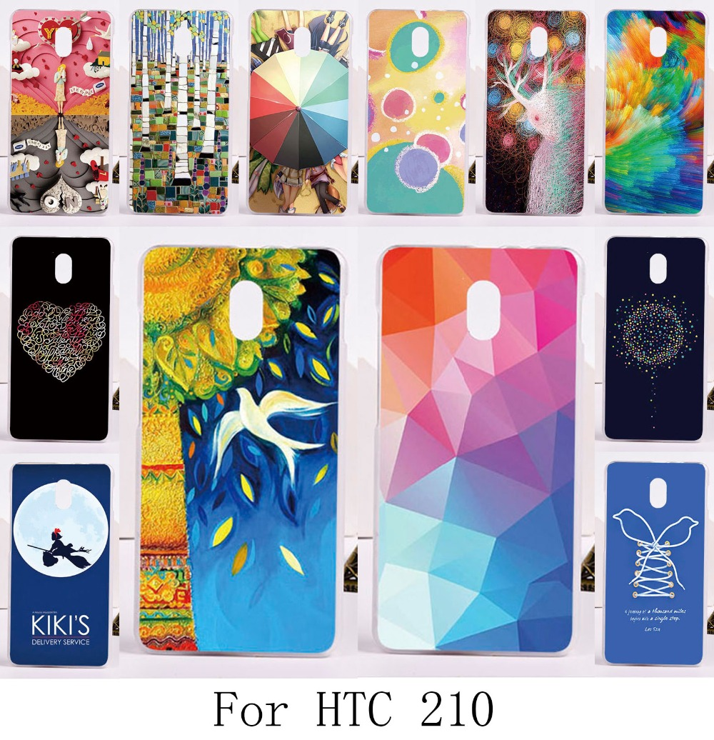 2015 New arrivel DIY good selling hard painting back protective case with different pictures for HTC Desire 210 Dual Sim cover