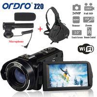 Tüketici Elektroniği'ten Tüketici Kameraları'de ORDRO HDV Z20 1080P WIFI dijital Video kamera kamera + kamera çantası su geçirmez kamera video dijital