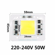 цена на New Style COB LED Bulbs Chip Lamp Smart IC Good Quality Waterproof Chip Avoid Driving 220V 20W 30W 50W For Outdoor FloodLight