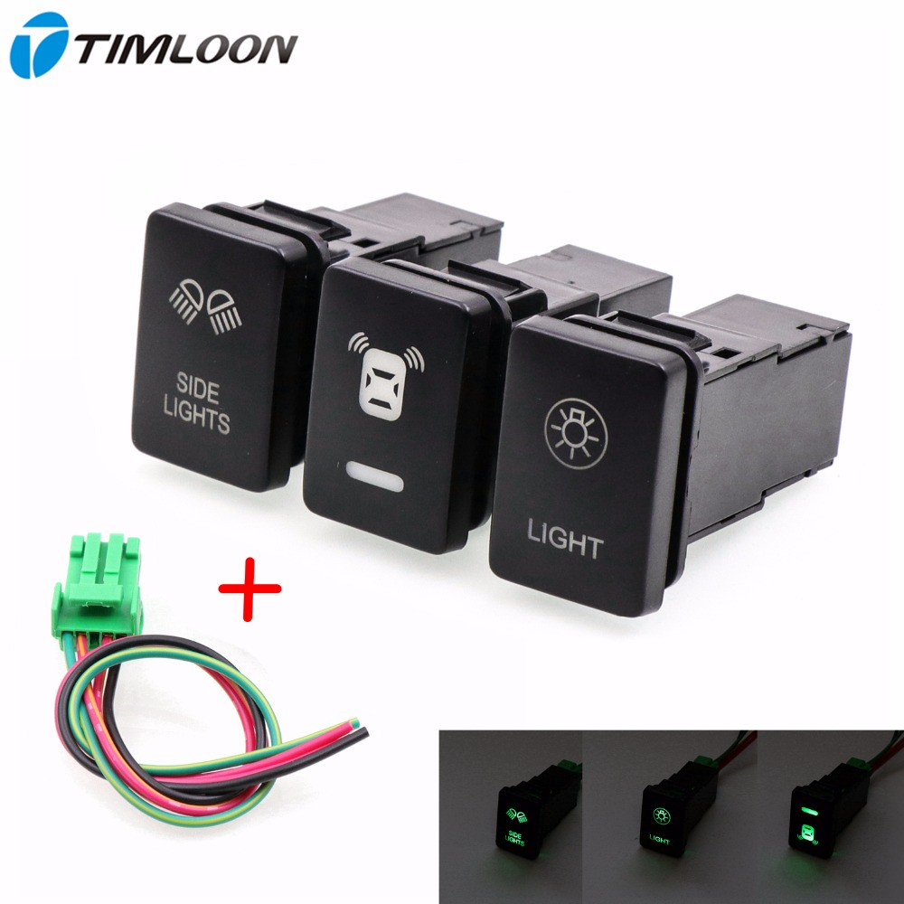 12V Car Switch Use for Fog Light ,Daytime Running Light ,Side light ,Reversing Radar Fit TOYOTA,Carola,Yaris,Auris,Avensis,RAV4