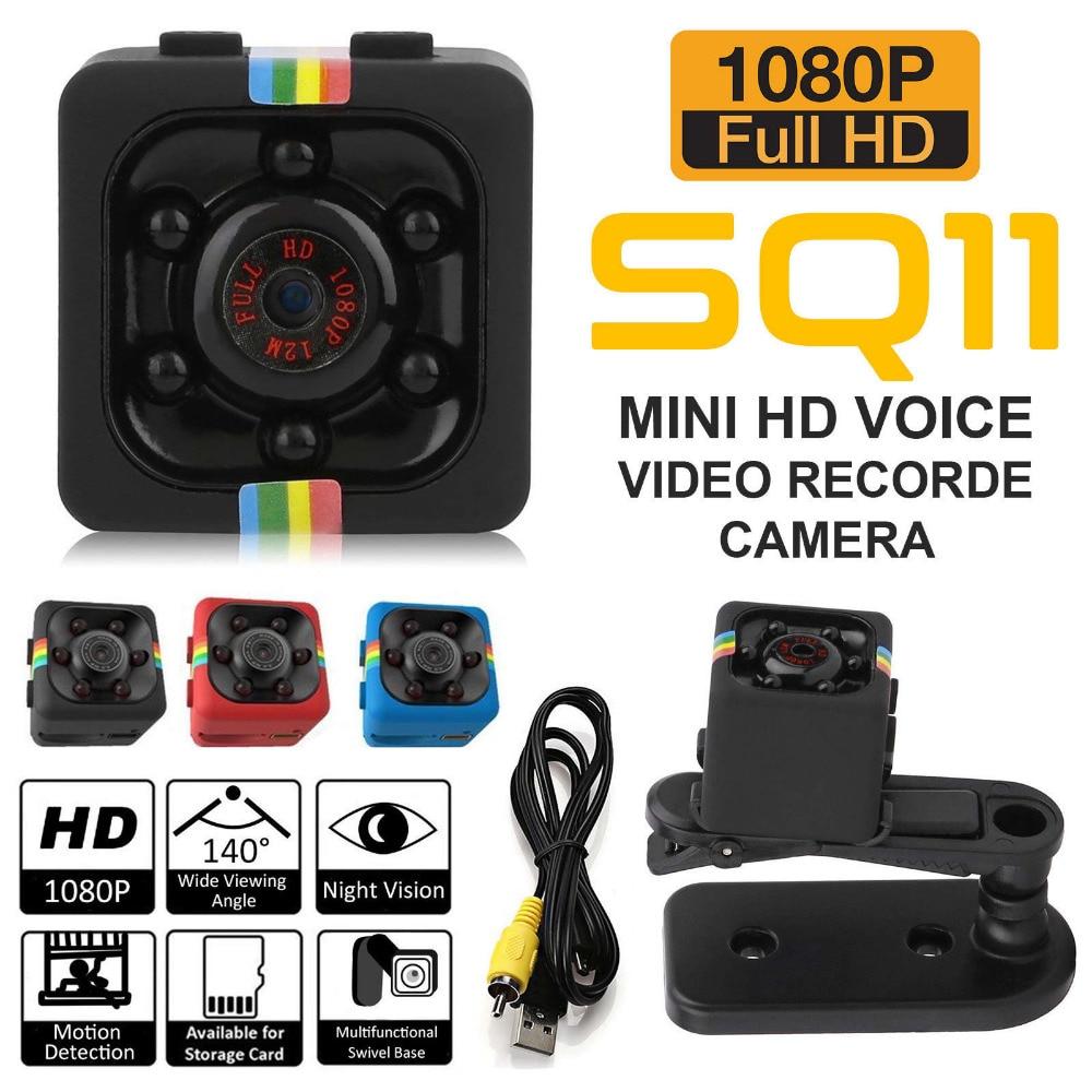 Travor Original SQ11 cámara Mini 1080 P 720 p grabadora de vídeo cámara Digital Micro Full HD IR visión nocturna más pequeño DV DVR videocámara