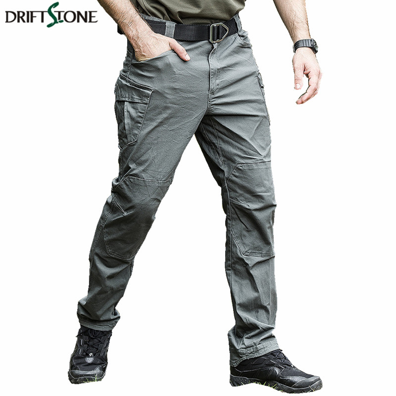 New Mens Multi-Pockets Tactical Pants Quality Military Tactical Trousers Military Cargo Pants 3 Colors Khaki Grey Green