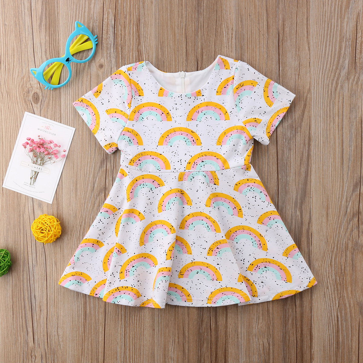 Koop Goedkoop Pasgeboren Kids Baby Meisje Zomer Korte Mouw Wit Korte Mouw Jurk Party Outfit Kleding 0-5y Voor 1-5y Yu