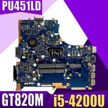 XinKaidi для ASUS PU451LD PU451 PU451L Материнская плата ноутбука i5-4200U 1G видео памяти PU451LD материнской REV2.0 100% GT820M