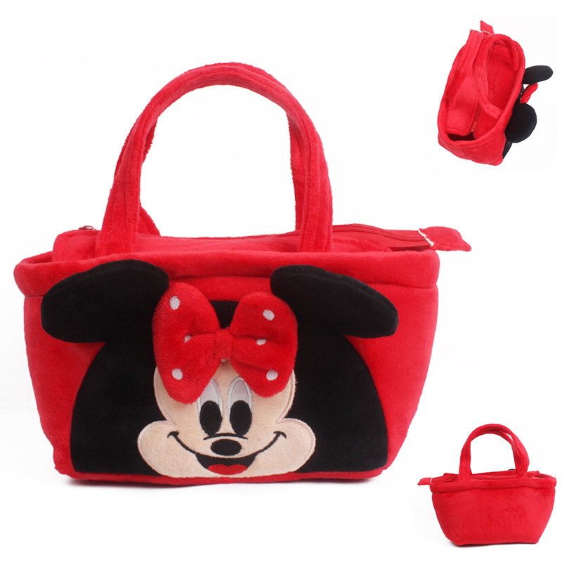 New Cute Plush Backpack Cartoon Plush Hand Bag Stationery Lunch Bag Mochila Candy Bags For Child