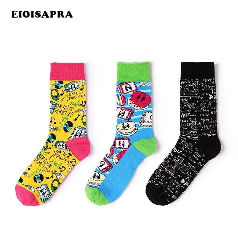 Hip Hop Winter Men Skateboard Socks Funny English Letters Happy Cotton Sock For Men Gift Calcetines Hombre Meias Mens Socks In Many Styles Underwear & Sleepwears
