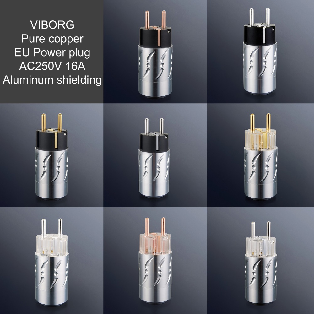 Viborg prise secteur haut de gamme courant alternatif EU prise secteur Schuko IEC prise secteur connecteur aluminium blindage pour HIFI Audio câble d'alimentation bricolage