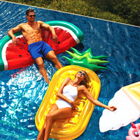 PVC Pool Float Pineapple Swimming Rings Adult Water Sports Giant Inflatable Flamingo Pool Float Swimming Ring Holiday Party Toys
